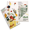 Check Presenters or Bill holders made of designer paper with pocket and printing for the restaurant
