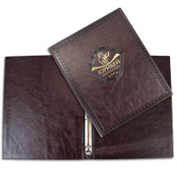 Production of leather menu covers for restaurants, bars, cafes and clubs