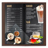 bar menu for a restaurant or cafe in the cover