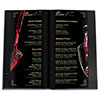 bar menu for a restaurant or cafe in a leatherette cover with embossing