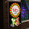 light box poster discount on alcoholic beverages