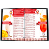 bar menu for a restaurant or cafe in a cover with files