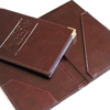 Eco leather and leatherette Check Presenters or Bill holders with pocket and embossed logo for the restaurant