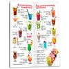 bar menu for a restaurant or cafe on a paper clip with lamination