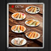 light box for cafe menu sets led with click profile